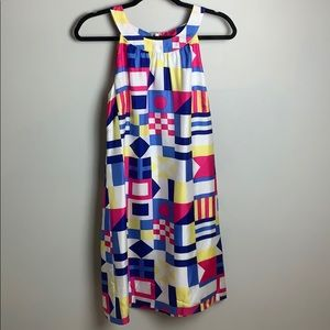 Vineyard Vines Nautical flag silk dress size 10
